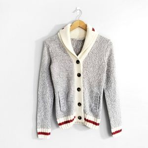 BLUENOTES Grey Knit Button Up Cardigan Sweater